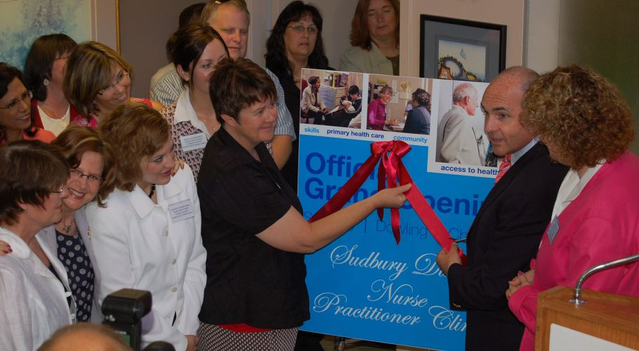 Ribbon Cutting Ceremony for SDNPC first location in Sudbury